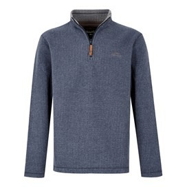Newark 1/4 Zip Grid Fleece Sweatshirt Maritime Blue