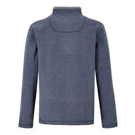 Newark 1/4 Zip Grid Fleece Sweatshirt Maritime Blue