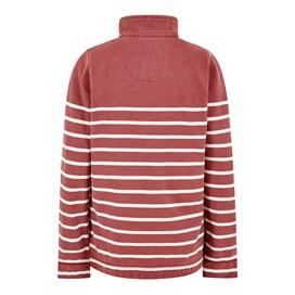 Hansley Striped Pique Button Sweat Rhubarb