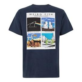 Shrimp Floyd Front Print Artist T-Shirt Black Iris