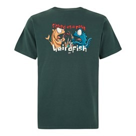 Fished As A Newt Artist T-Shirt Evergreen