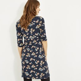 Starshine Printed Jersey Dress Indigo