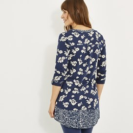 Francisco Printed Longer Length Top Midnight