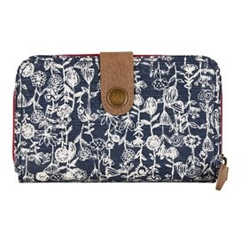 Tom Tom Printed Cotton Slub Purse Dark Navy