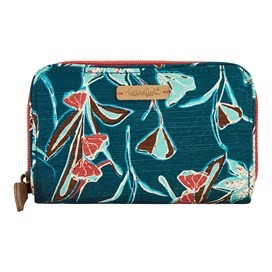 Tom Tom Printed Cotton Slub Purse Deep Sea Blue