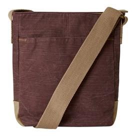 Betti Solid Slub Cross Body Bag Mulled Wine