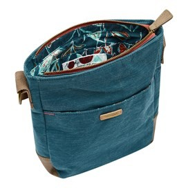 Betti Solid Slub Cross Body Bag Deep Sea Blue