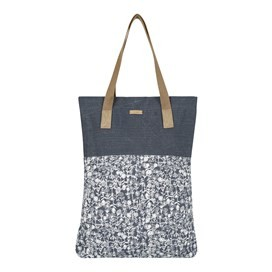 Elena Printed Slub Shopper Dark Navy