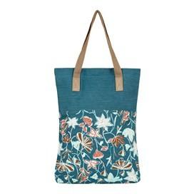 Elena Printed Slub Shopper Deep Sea Blue