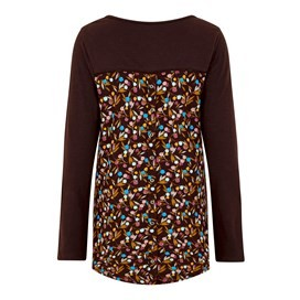 Jamila Printed Jersey T-Shirt Mulled Wine
