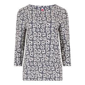 Bodil Floral Jacquard T-Shirt Dark Navy