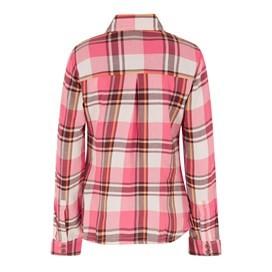 Rosa Check Twill Shirt Hot Pink