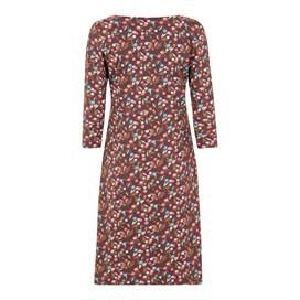 Starshine Printed Jersey Dress Mulled Wine