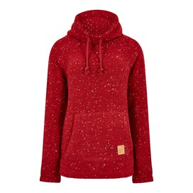Roskilde Funnel Neck Knitted Fleece Rouge