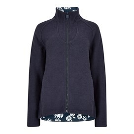 Damla Full Zip Macaroni Sweatshirt Dark Navy