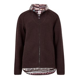 Damla Full Zip Macaroni Sweatshirt Mulled Wine