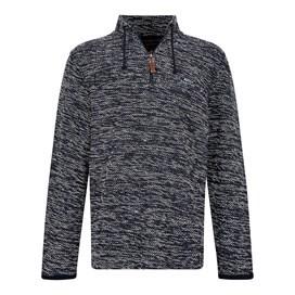 Flynn 1/4 Zip Nepp Macaroni Sweatshirt Black Iris