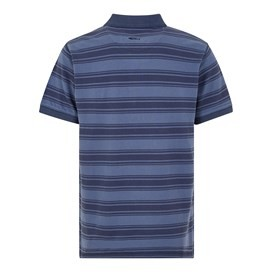 Devenick Tonal Stripe Pique Polo Black Iris