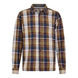 Matanic Long Sleeve Herringbone Check Shirt English Mustard