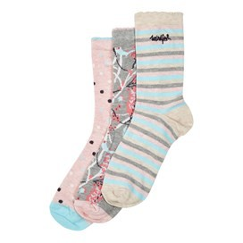 Parade Patterned Sock 3-Pack Frost Grey Marl