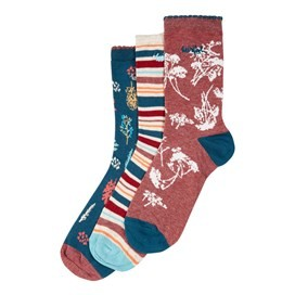 Parade Patterned Sock 3-Pack Deep Sea Blue Marl