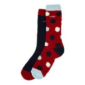 Park Fluffy Sock 2-Pack Dark Navy