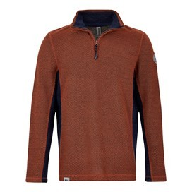 Stanford 1/4 Zip Active Macaroni Sweatshirt Brick Orange