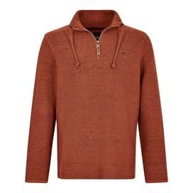 Skipper 1/4 Zip Classic Macaroni Sweatshirt Brick Orange
