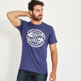 WF Surf Branded Graphic T-Shirt Night Blue Marl