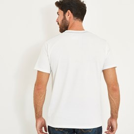 WF Surf Branded Graphic T-Shirt Dusty White Marl