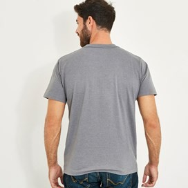 Stitch Up Branded Graphic T-Shirt Grey Marl