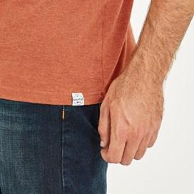 Stitch Up Branded Graphic T-Shirt Brick Orange Marl
