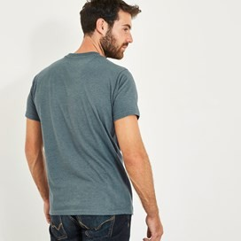 Fished Branded Graphic T-Shirt Dusty Teal Marl
