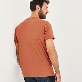 Fished Branded Graphic T-Shirt Brick Orange Marl