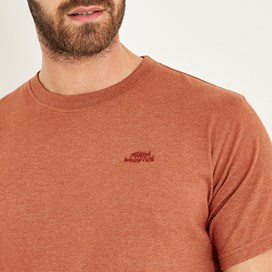 Fished Branded Graphic T-Shirt Brick Orange Marl