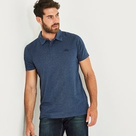 Tyrie Branded Polo Black Iris Marl