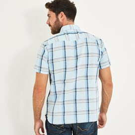 Winnfield Chambray Short Sleeve Shirt Pale Denim