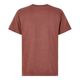 Fished Branded Graphic T-Shirt Oxblood Red Marl