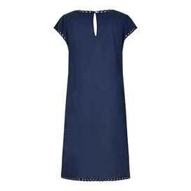 Addy Cutwork Voile Dress Dark Navy