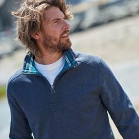 Alyth 1/4 Zip Sweatshirt Black Iris