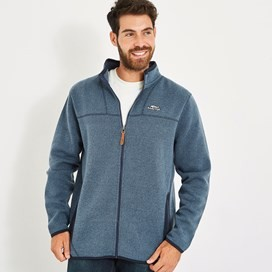 Lindauer Full Zip Soft Knit Fleece Black Iris