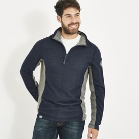 Stanford 1/4 Zip Active Macaroni Sweatshirt Black Iris
