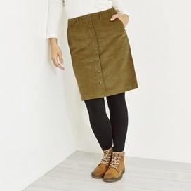 Winny Cord Skirt Camel