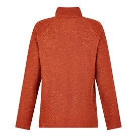 Keady Sierra Knit 1/4 Neck Brick Orange