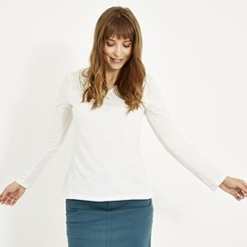 Walkabout Slub Cotton T-Shirt Light Cream