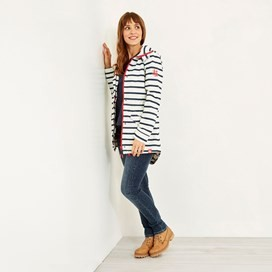 Arlene Fully Waterproof Striped Jacket Light Cream