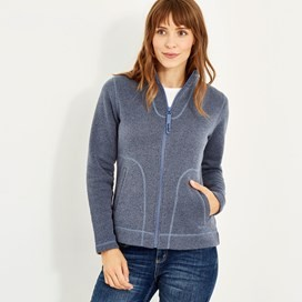 Galata Full Zip Soft Knit Fleece Dark Navy