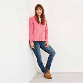 Galata Full Zip Soft Knit Fleece Hot Pink