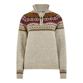 Brindie 1/4 Zip Windstopper Jumper Chalk