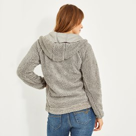 Imperial Full Zip Fleece Hoodie Frost Grey Marl